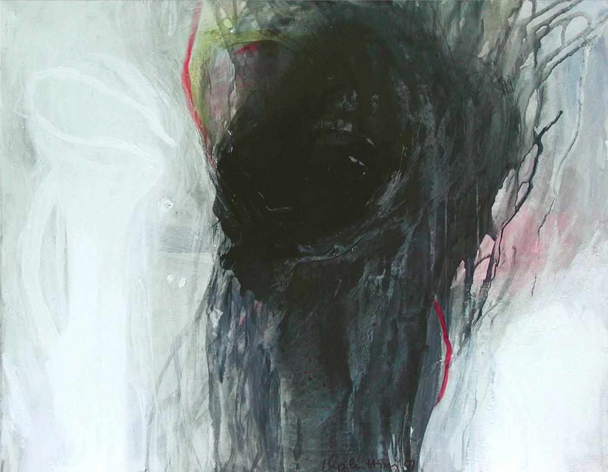 Knie (Dialog mit dem Unsichtbaren), 80x100,-2001