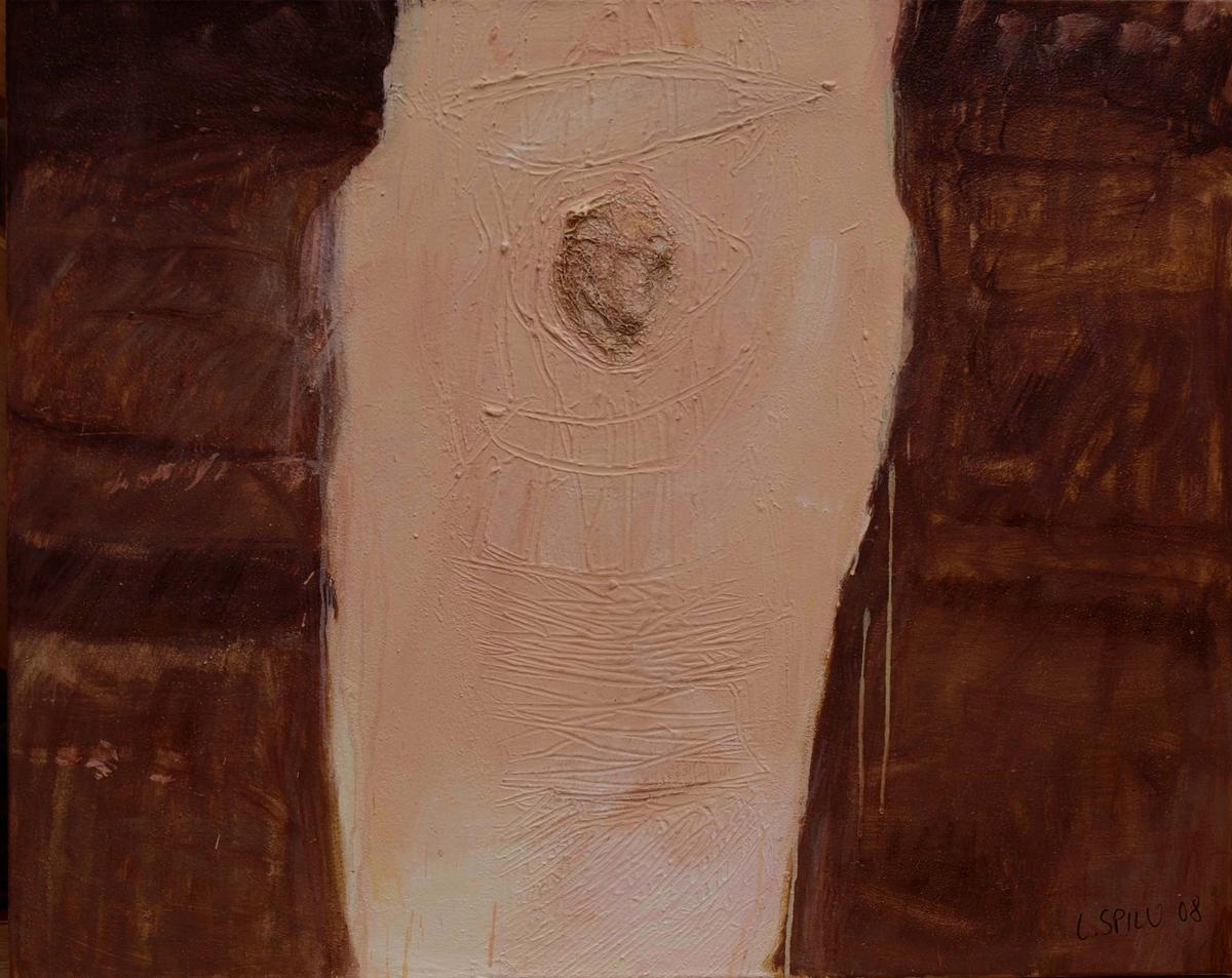 Knie neu, 100x80, 2008