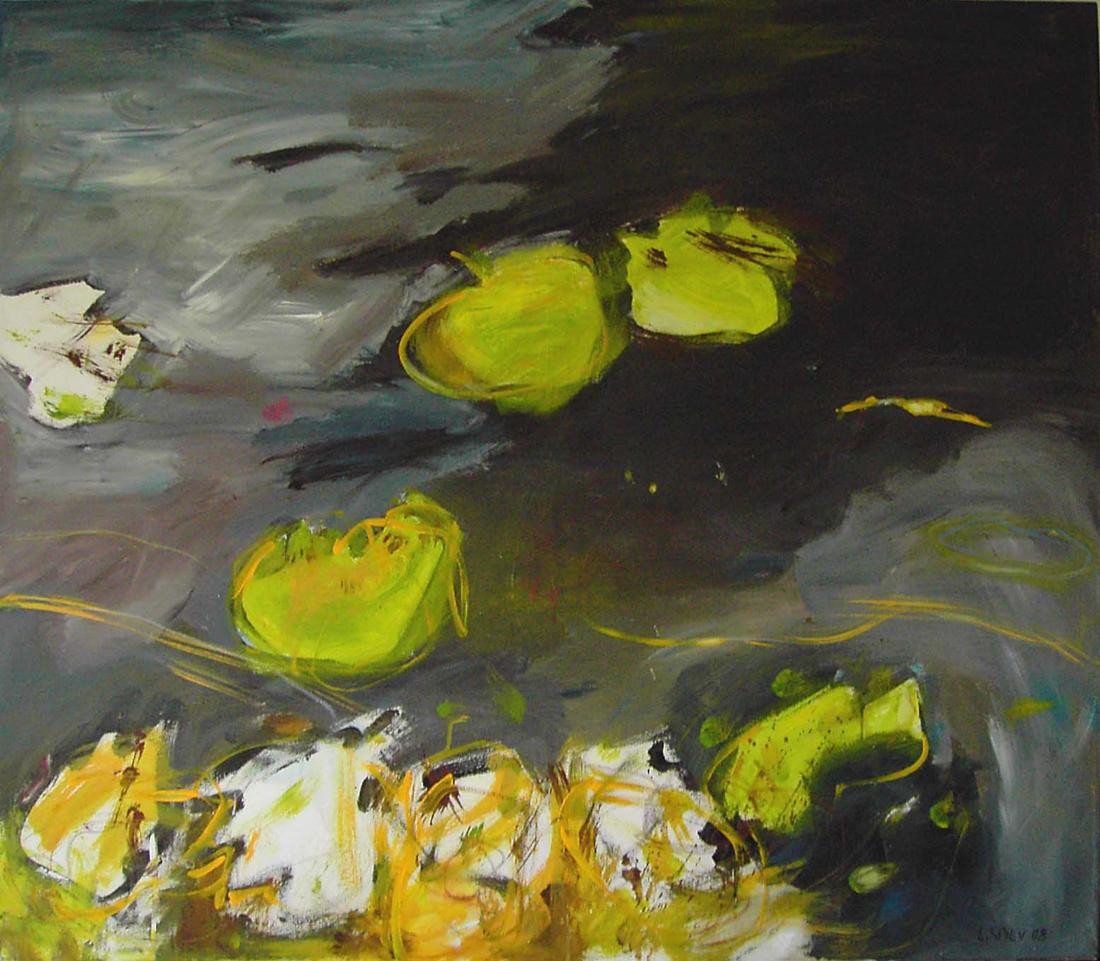 o.T. (Blätter), 95x110, 2008