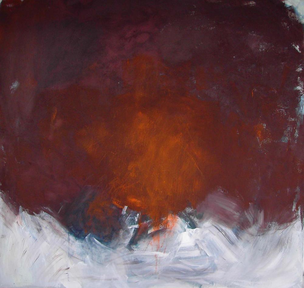 o.T. (Grillblech), 100x100, 2008