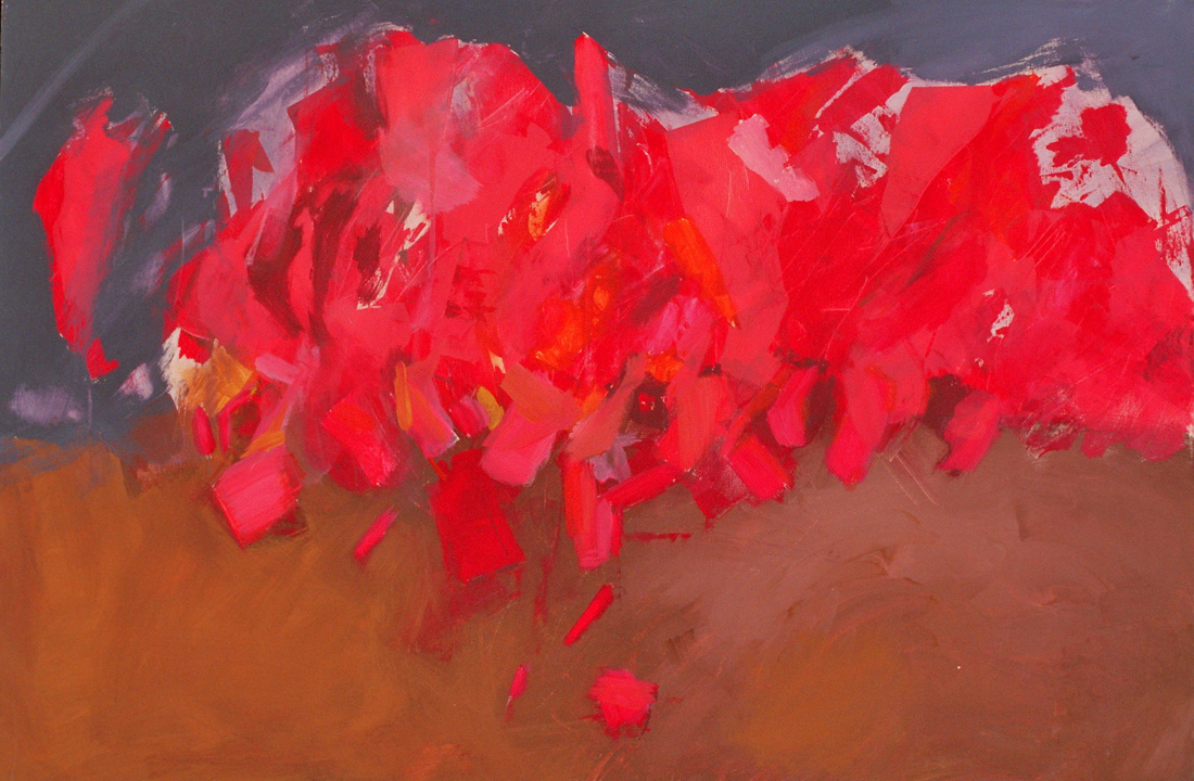 o.T. (Kardinäle), 2005, 80x120