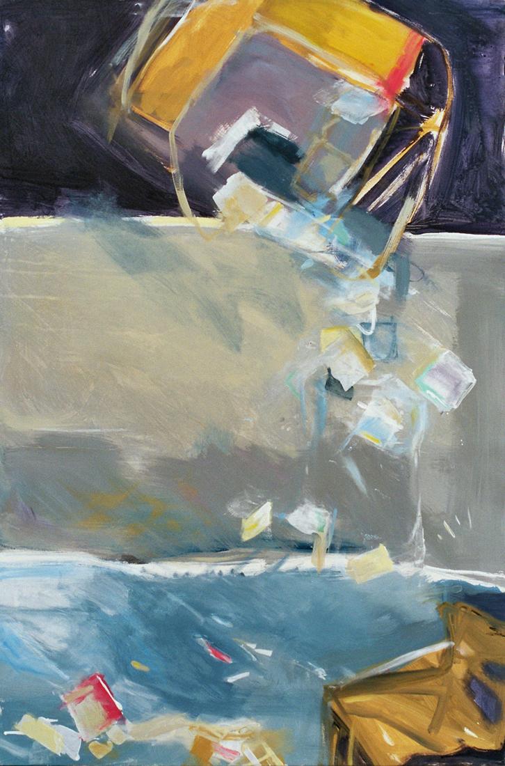 o.T. (dreigeteilt), 120x80, 2005