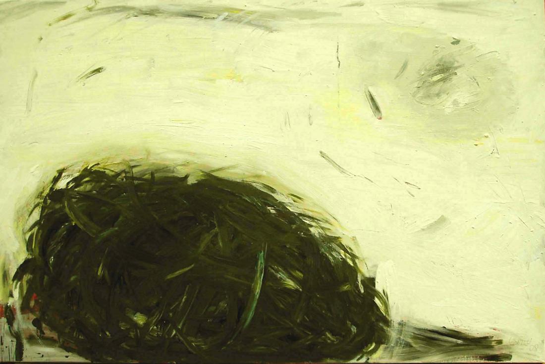 o.T. (grüner Knäuel), 80x120, 2008