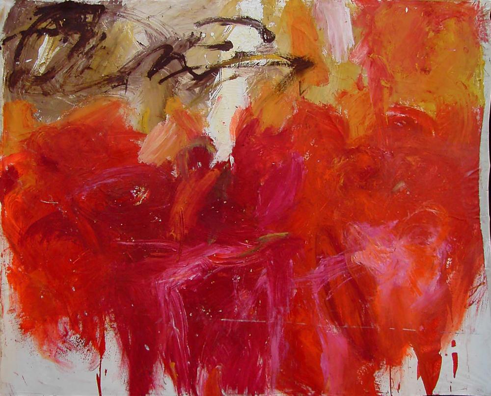 o.T. (rot2), Lw. 160x195, 2006
