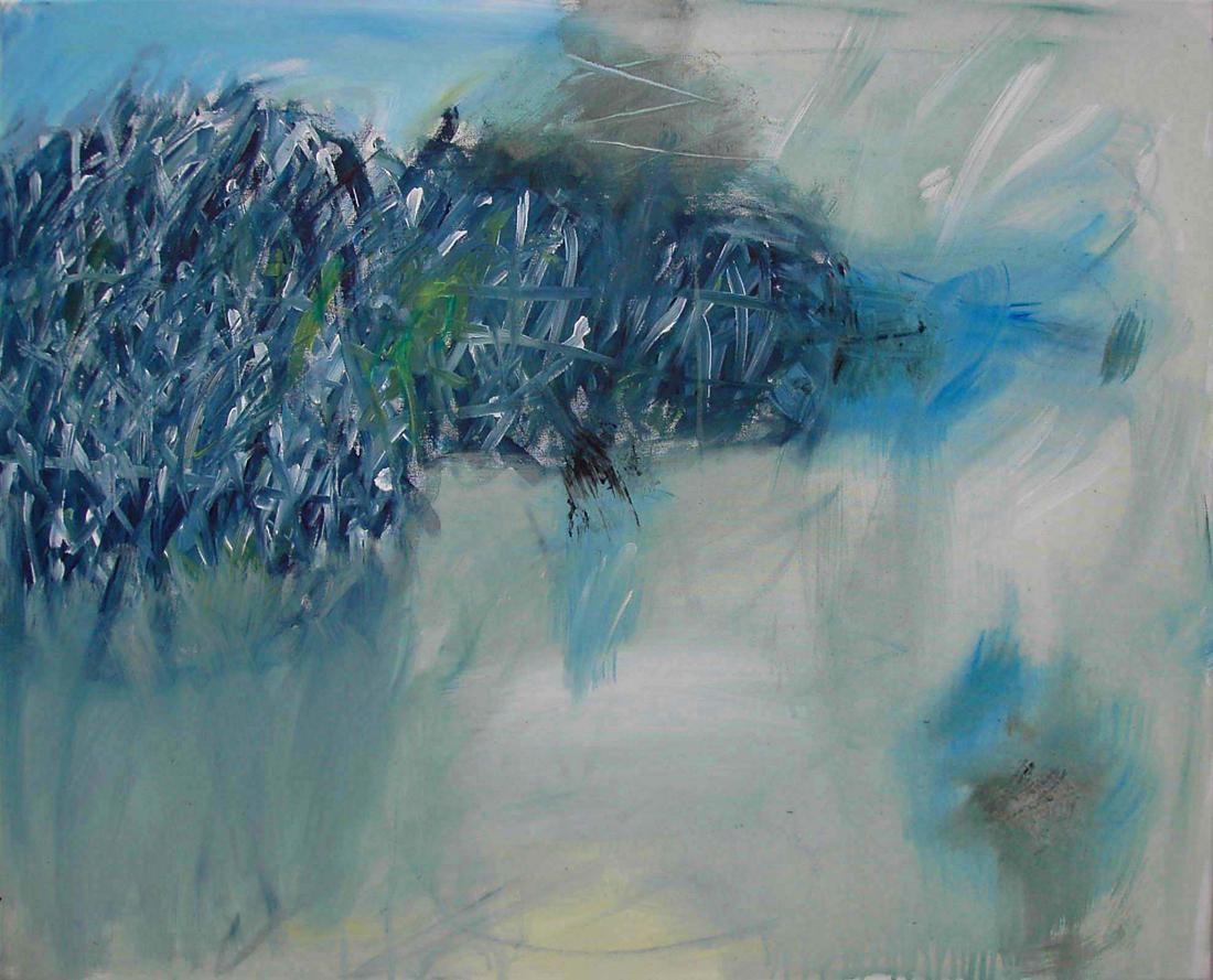 o.T. (Blaue Insel), 80x100, 2007
