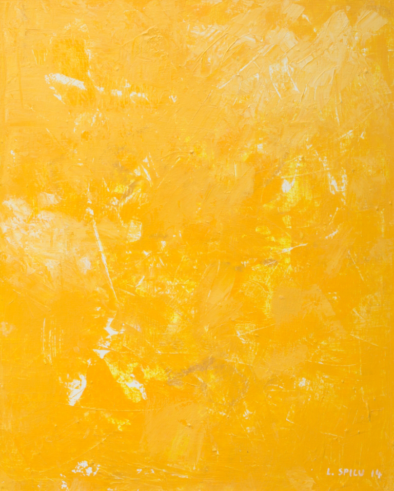 Monochrom gelb2, 100x80, 2014