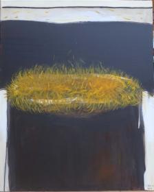 o.T. (Pelziger Mund), 100x80, 2015
