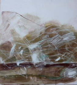 Eisige Landschaft 1, 2015, 100x90