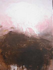 o.T. (Landschaft rosa-braun), 110x80, 2012