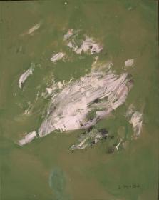 Monochrom grün, 100x80, 2014