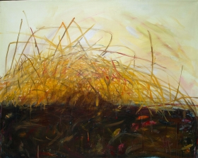 Herbstlicher Strohhaufen, 80x100, 2013